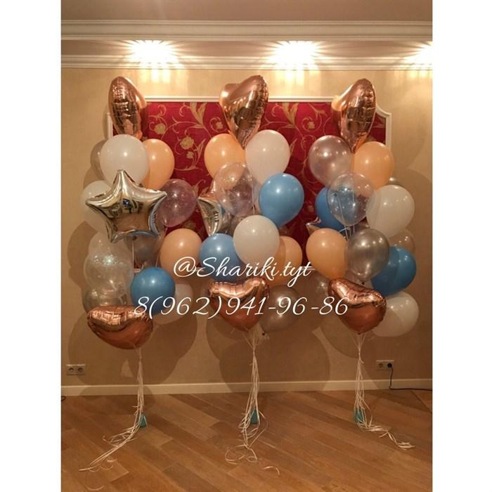 Фонтан из воздушных шаров - фото 4547