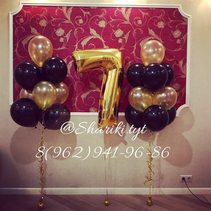 """Композиция из воздушных шариков """"Gold"""" - фото 4548"""