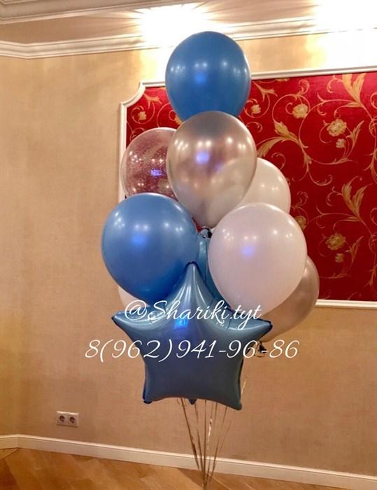 """Фонтан из воздушных шариков на день рождения """"MIX"""" - фото 4573"""
