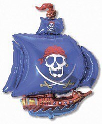 """Воздушный шар фигура """"Пиратский корабль""""Ассорти - фото 4595"""