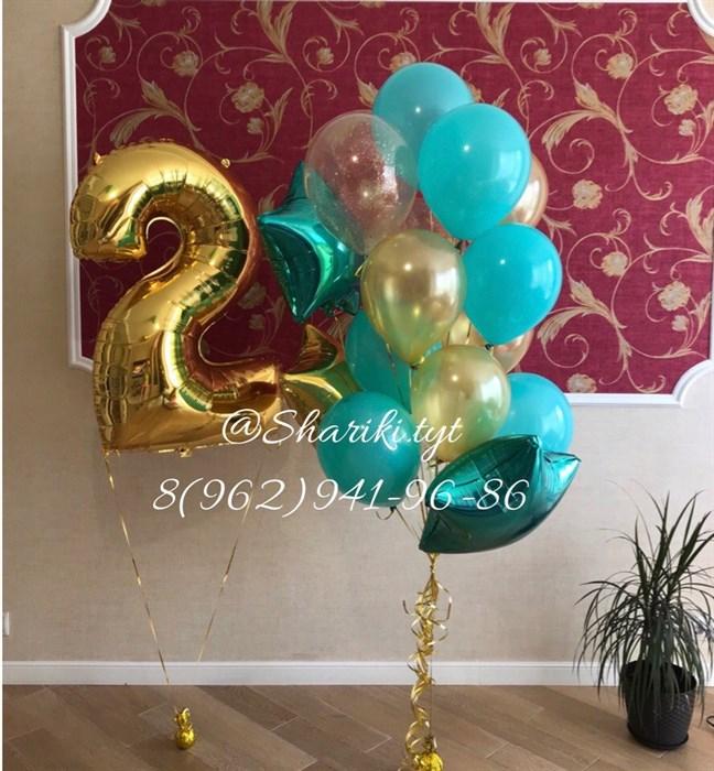 Набор воздушных шаров на день рождения - фото 4738