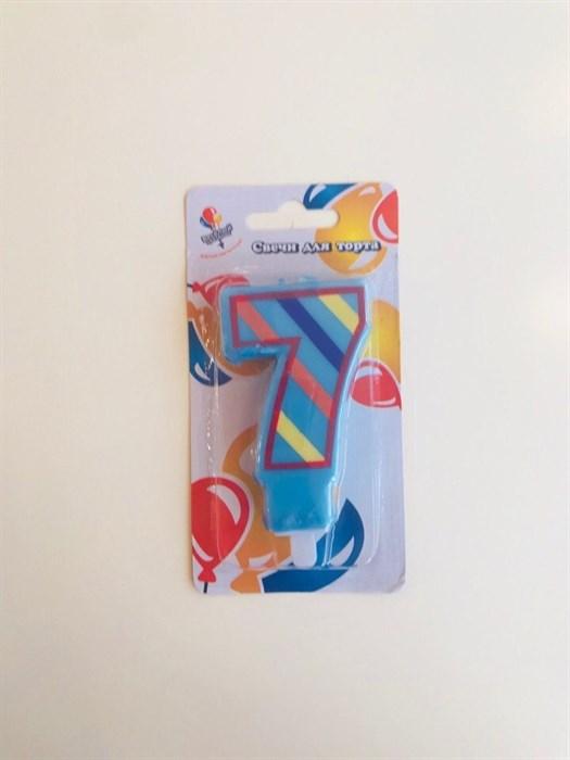 """Свеча для торта цветная """"7"""" - фото 4823"""