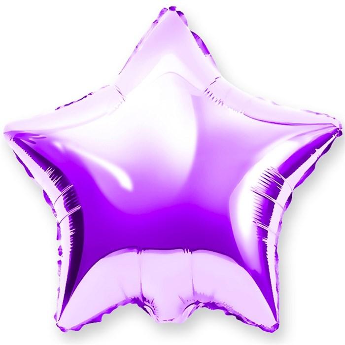 """Воздушный шар звезда 46 см """"Фиолетовый"""" - фото 4962"""