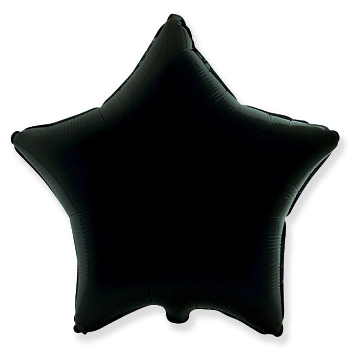 """Воздушный шар звезда 46 см """"Черный"""" - фото 4968"""