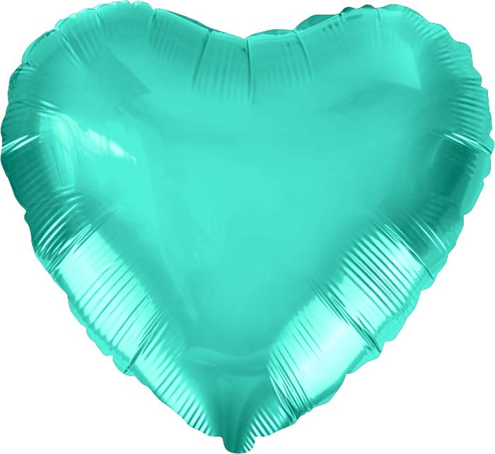 """Воздушный шар сердце 46 см """"Тиффани"""" - фото 4973"""