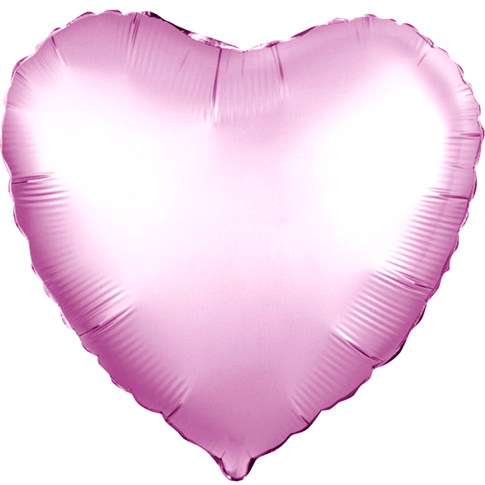 """Воздушный шар сердце 46 см """"Розовый сатин"""" - фото 4975"""