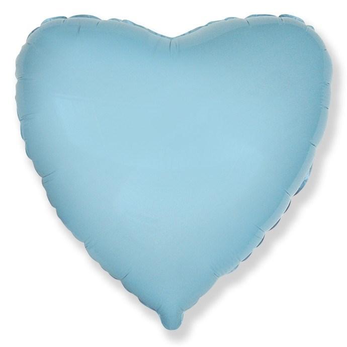 """Фольгированный воздушный шар сердце 46 см """"Голубой"""" - фото 4977"""