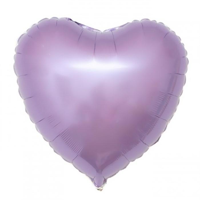 """Воздушный шар сердце 46 см """"Сиреневый"""" - фото 4980"""