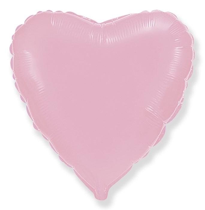 Воздушный шар большое розовое сердце 90 см - фото 5004
