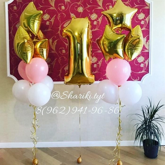 Букет воздушных шаров с цифрой №23 - фото 5034