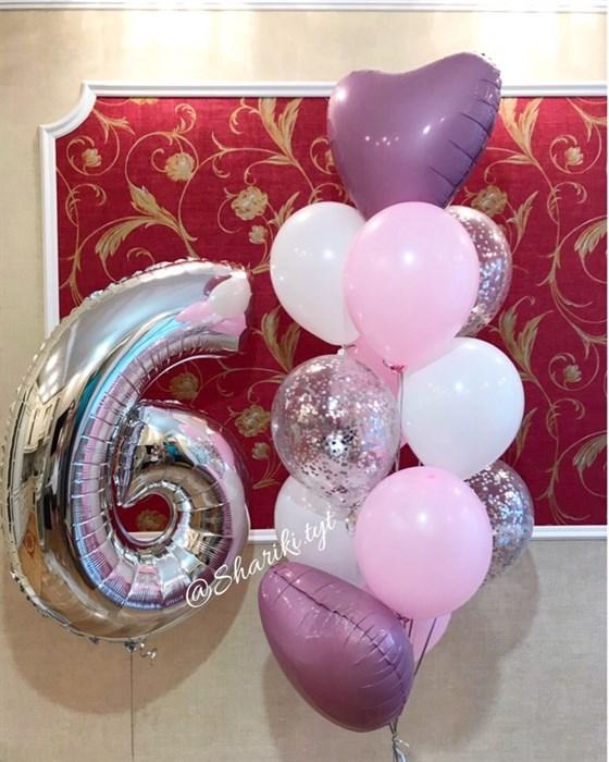 Композиция из воздушных шаров на день рождения №28 - фото 5047