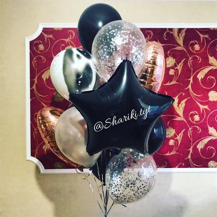 Букет из воздушных шаров на праздник для мужчины - фото 5052