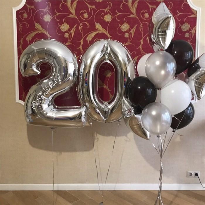 """Композиция из воздушных шаров на день рождения """"Блеск"""" - фото 5069"""