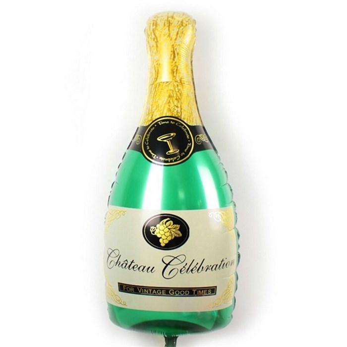 """Воздушный шар """"Бутылка шампанского"""" зеленый - фото 5091"""