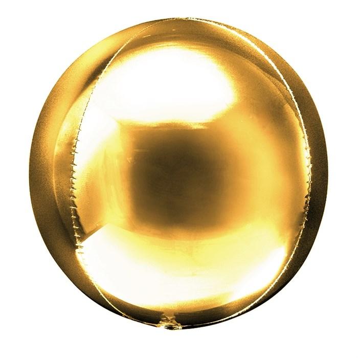 Фольгированный воздушный шар 3D сфера (Золото) - фото 5114
