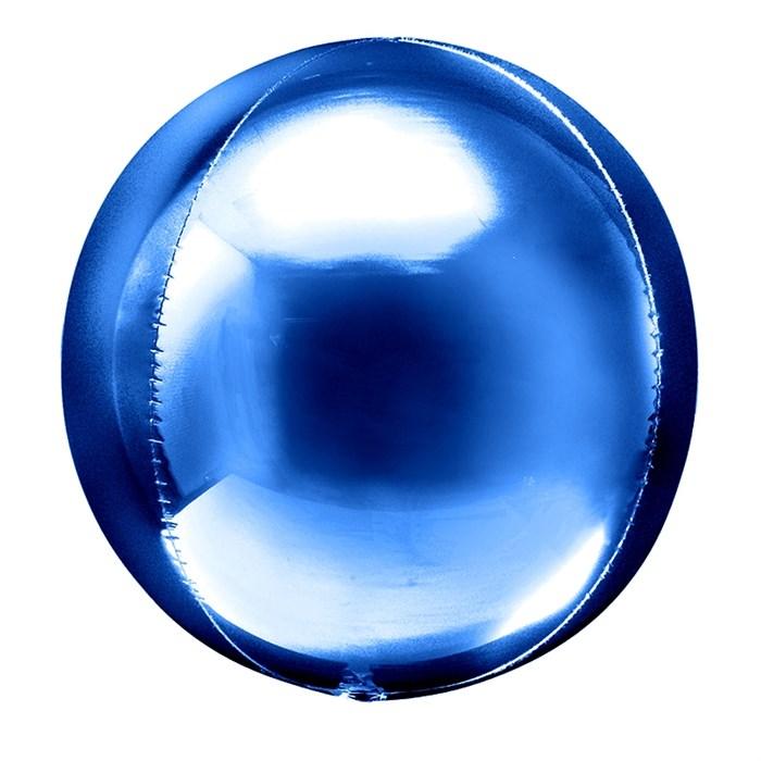 Фольгированный воздушный шар 3D сфера (Синий) - фото 5116