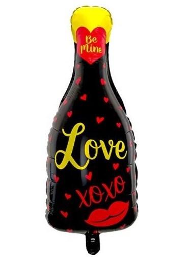 """Воздушный шар в виде бутылки шампанского """"LOVE"""" - фото 5282"""
