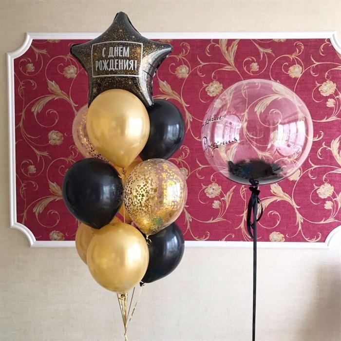 """Набор воздушных шаров """"Чёрное золото"""" - фото 5436"""