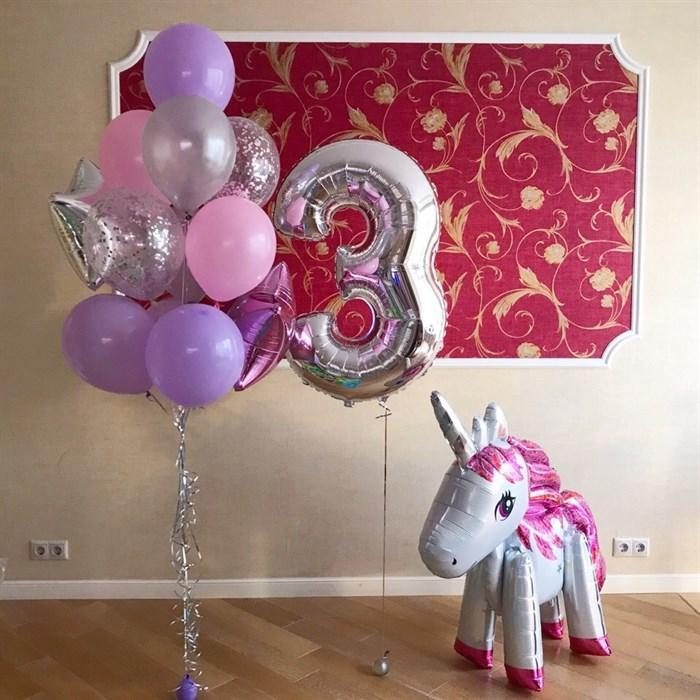 """Воздушные шары для детей """"Сиреневое настроение"""" - фото 5437"""