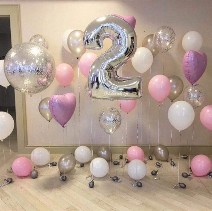 Фотозона на день рождения из воздушных шаров - фото 5464