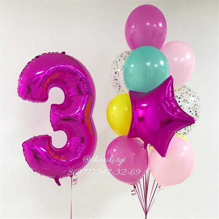 """Воздушные шарики на день рождения """"Малиновый праздник"""" - фото 5637"""