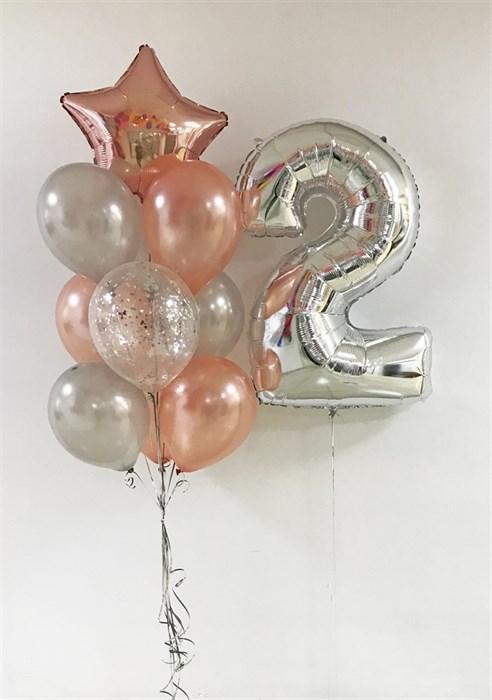 Набор воздушных шаров с цифрой. Акция - фото 5707