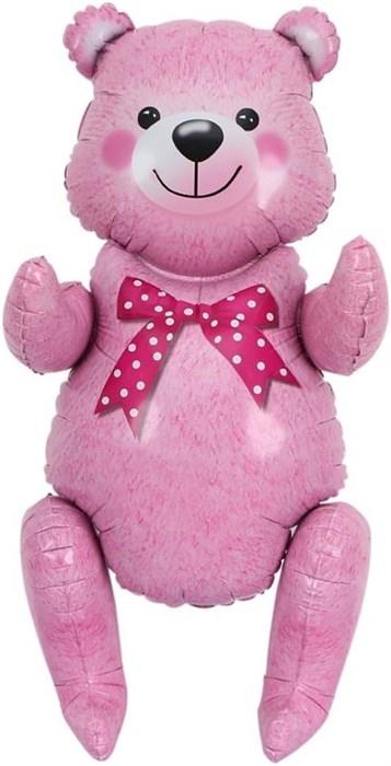 Сидячий мишка (розовый) 81 см - фото 5894