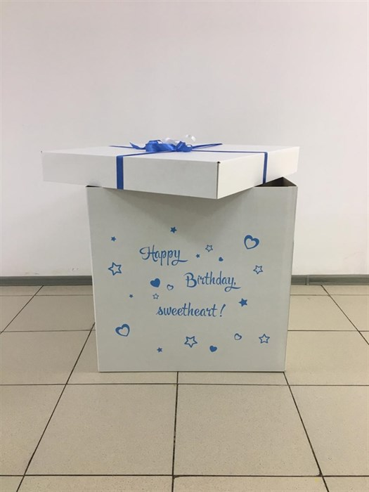 "Коробка для воздушных шаров ""Сюрприз"" (70х70 см) (без шаров) - фото 5969"