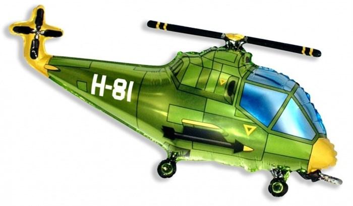 Воздушный шар Вертолет красный - фото 5977