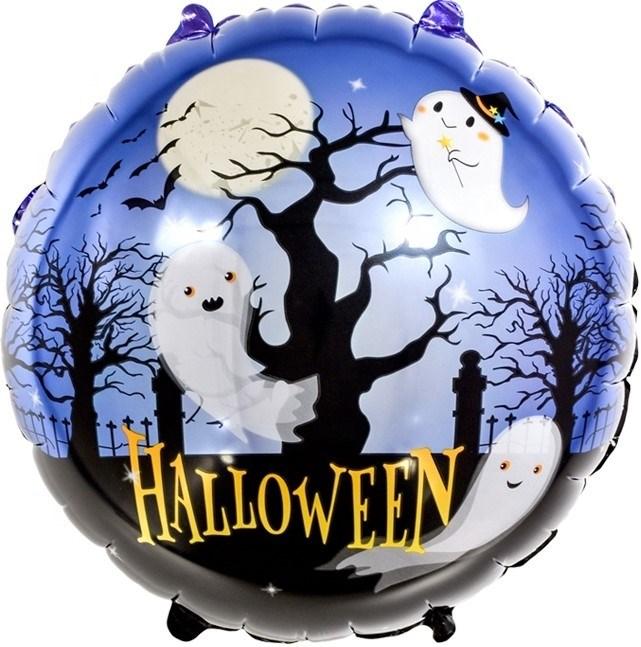 "Воздушный шар круг на Хэллоуин ""Ночь привидений"" - фото 6086"