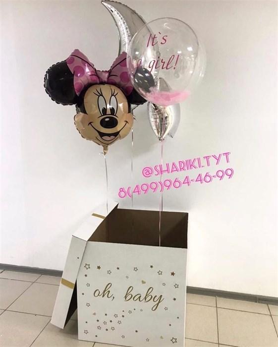 """Воздушные шары в коробке сюрприз """"Нежность"""" - фото 6108"""