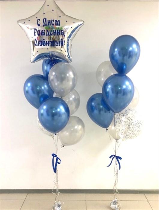 """Композиция воздушный шаров  """"Звезда гигант с надписью"""" - фото 6132"""