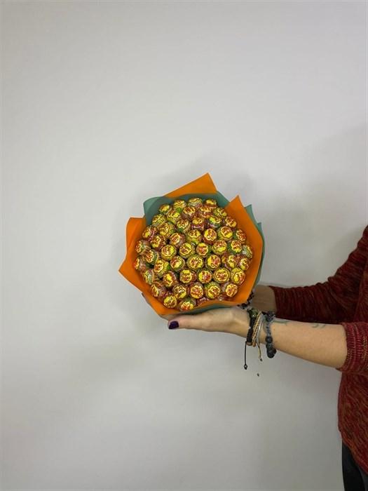 """Сладкий букет из чупа чупсов """"тропический вкус"""" - фото 6210"""