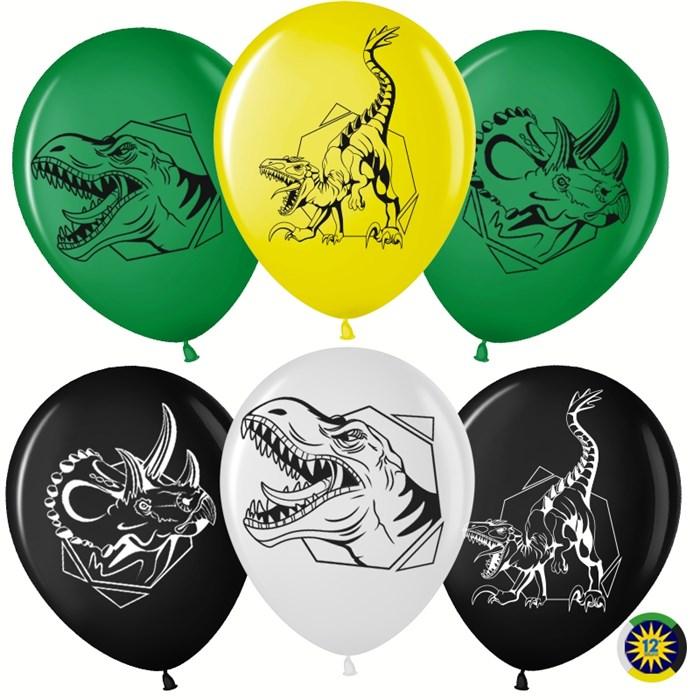 """Воздушные латексные шарики """"Эра Динозавров"""" - фото 6219"""
