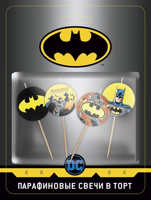 Свечи Круг, Бэтмен, 4 см, 4 шт - фото 6380