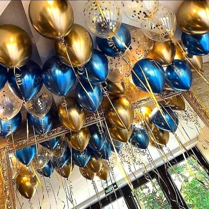 """Воздушные шары под потолок """"золотой блеск"""" - фото 6411"""