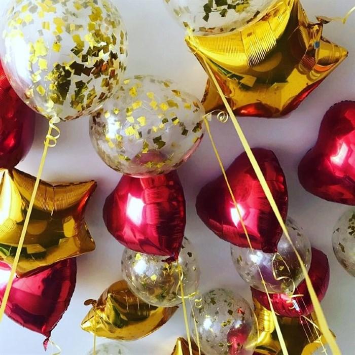 Фольгированные воздушные шары под потолок - фото 6419