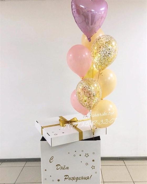 Коробка с воздушными шарами с доставкой (Акция) - фото 6592