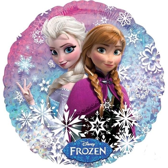 """Воздушный шар круг """"Холодное сердце Анна и Эльза"""" - фото 6605"""