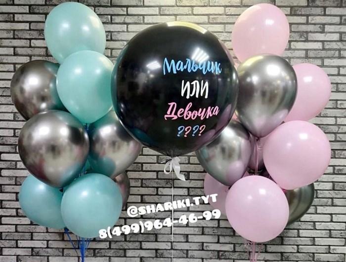 Набор воздушных шаров для гендерной вечеринки - фото 6624
