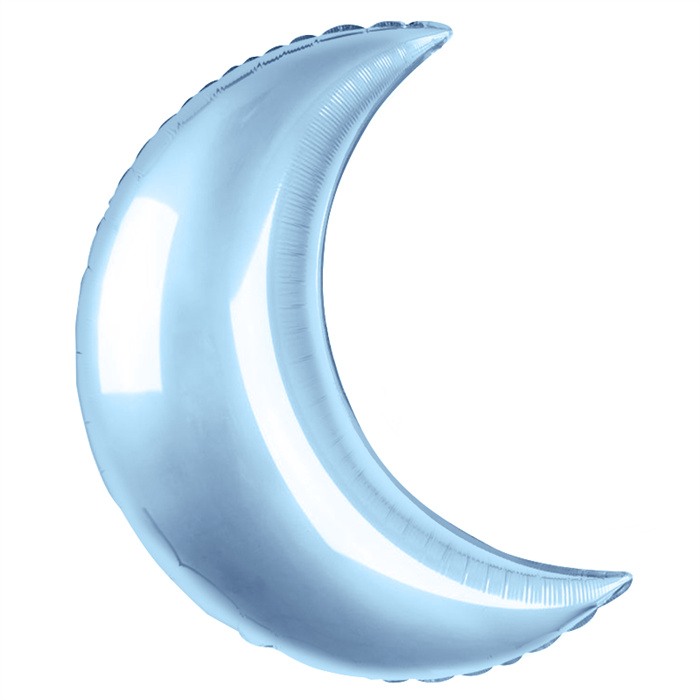 Воздушный шар большой Полумесяц 89см голубой - фото 6730