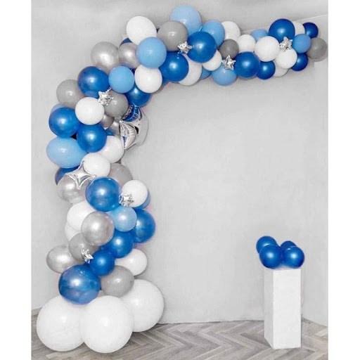 Разнокалиберная гирлянда из воздушных шаров со звёздами - фото 6783