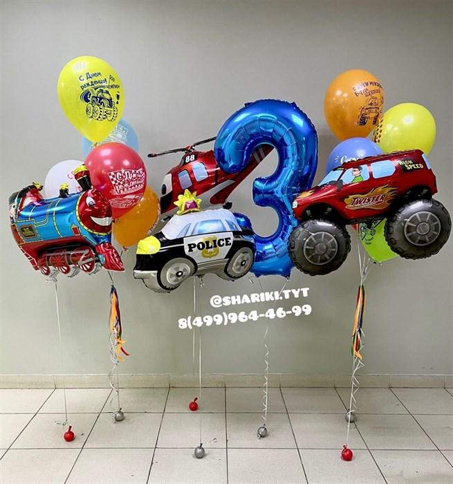 Набор воздушных шаров «Спецтехника» - фото 6793