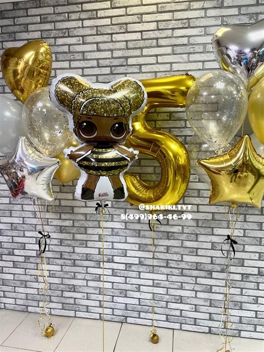 """Готовый набор воздушных шаров """"Куколка» - фото 6828"""