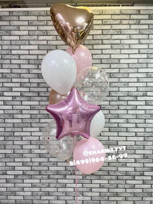 Фонтан из воздушных шариков «Симпатия» - фото 6858