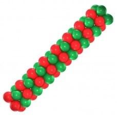 Арка из воздушных шаров (зелено-красная) - фото 6885