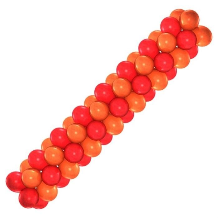 Арка из воздушных шаров (оранжево-красная) - фото 6893