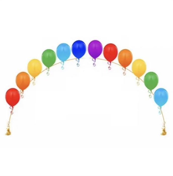 Цепочка из воздушных шаров «Радужная» - фото 6897