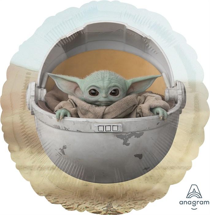 Воздушный шар Круг, Звездные войны, Малыш Йода - фото 7187