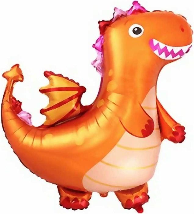 """Воздушный шар фигура """"Дракон"""", оранжевый - фото 7191"""